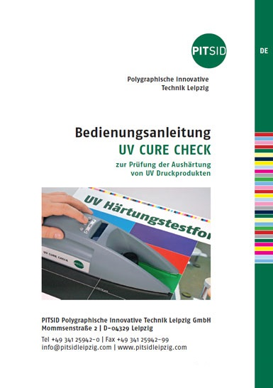 PDF-Download​​​​​​​ - UV CURE CHECK - Bedienungsanleitung